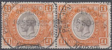Kenya és Uganda 1922 Mi 17 pár / pair