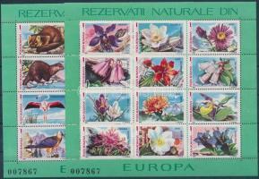 Animals and plants in European nature conservation areas block set, Állatok és növények az európai természetvédelmi területekről blokksor