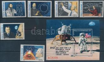Moon landing + block, A Holdra szállás 20. évfordulója + blokk