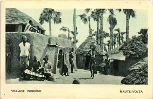 Village indigene, Haute-Volta / native village in French Upper Volta, Bennszülött falu, Francia-Felső-Volta