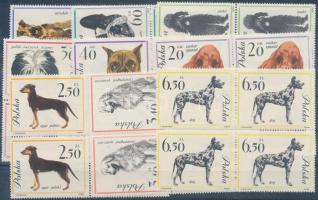 1963 Kutyák 9 négyestömb Mi 1374-1382