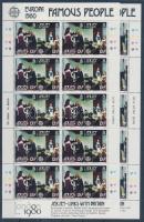1980 Europa CEPT híres személyek kisívsor Mi 219-222