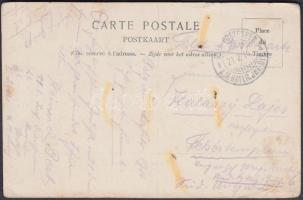 1916 Brüsszeli képeslap tábori postával