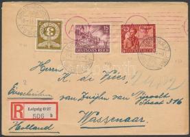 1944 Cenzúrás ajánlott levél Hollandiába