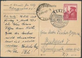 1939 Levelezőlap Budapestre - előbb tévesen Bukarestbe küldve