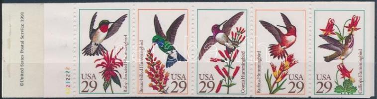 Bird; Hummingbird stamp booklet, Madár; Kolibri bélyegfüzet (bélyegfüzet hátlapja hiányzik)