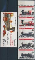 Locomotive stamp booklet + sheet, Mozdony bélyegfüzet + lap