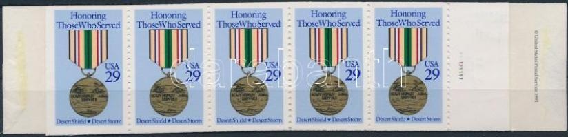 Honours stamp booklet, Kitüntetések bélyegfüzet