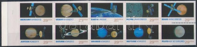 Space research stamp booklet, Űrkutatás bélyegfüzet