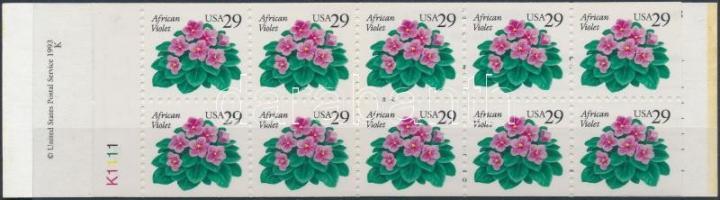 Flower stamp booklet, Virág bélyegfüzet
