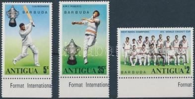 1975 Krikett ívszéli sor Mi 246-248