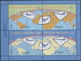 2008 Europa CEPT a levél bélyegfüzetlap H-Blatt 1 (Mi 460-463)