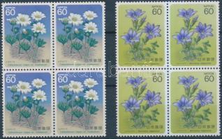 Flowers (V) set in blocks of 4, Virág (V) sor négyestömbökben