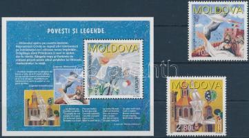 1997 Europa CEPT mondák és legendák sor Mi 236-237 + blokk Mi 12