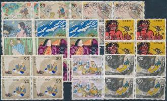 1973-1975 Népmesék 11 klf négyestömb