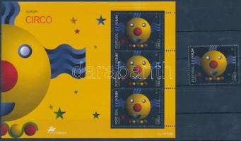 Europa CEPT Circus stamp + block, Europa CEPT cirkusz bélyeg + blokk