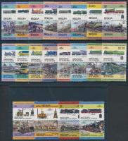 Locomotives (I-III) set in pairs, Mozdonyok (I-III.) sor párokban