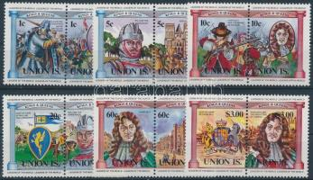 Union Island British monarchs set in pairs, Union Island Brit uralkodók sor párokban