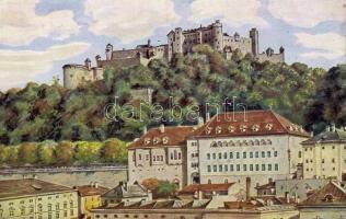 Salzburg, Stieglkeller / beer hall, castle, Wiro' s: Lorsch & Nachbar