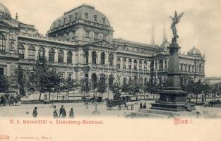 Vienna, Wien; I. Universität, Liebenberg-Denkmal / university, statue