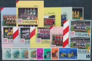 1975-1984 20 stamps  with sets, 1975-1984 20 db bélyeg, közte teljes sorok, ívszéli értékek és párok