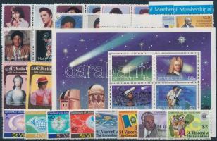 1974-1985 24 stamps with sets + 1 block, 1974-1985 24 db bélyeg, közte teljes sorok, ívszéli értékek és párok + 1 db blokk
