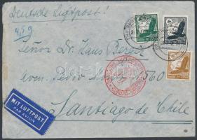 1937 Légi levél Chilébe