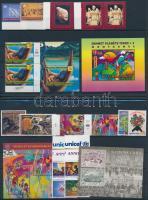 1995-1998 5 klf sor + 4 klf blokk + 2 klf sor párban 2 db stecklapon