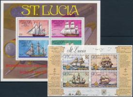 1973/1976 Ships 2 blocks, 1973/1976 Hajó motívum 2 db blokk
