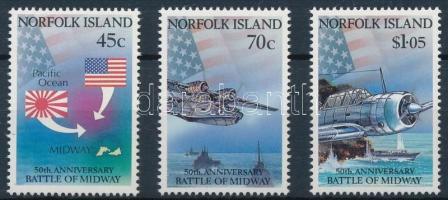 1991 Midway-i csata 50. évfordulója sor Mi 522-524