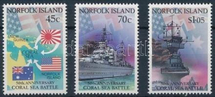 1991 Korall tengeri csata 50. évfordulója sor Mi 525-527