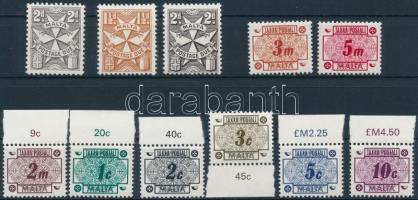 1957-1973 11 db Portó bélyeg