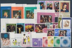 1970-1975 26 db bélyeg, közte teljes sorok, ívszéli és ívsarki értékek + 5 db blokk 1970-1975 26 stamps with sets + 5 blocks