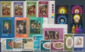 1969-1978 20 db bélyeg, közte teljes sorok, ívszéli és ívsarki értékek + 1 db kisív 1969-1978 20 stamps with sets + 1 minisheet