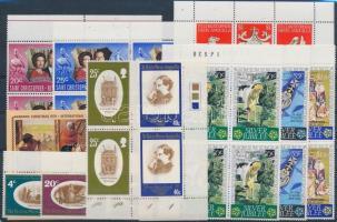 1970-1979 28 db bélyeg összefüggésekben + 1 db kisív 1970-1979 28 stamps + 1 minisheet