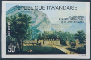 International Council for taking care of the French Language imperf stamp, Nemzetközi Tanács a Francia Nyelv Gondozásáért vágott bélyeg
