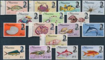 1969 Tengeri élővilág 16 db bélyeg Mi 331-332, 334, 336-348 X