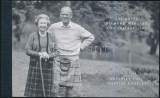 2007 A királyi pár 60. házassági évfordulója bélyegfüzet MH 50 (Mi 1145-1150)