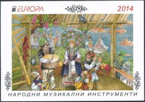 Europa CEPT Instruments stamp booklet, Europa CEPT Hangszerek bélyegfüzet