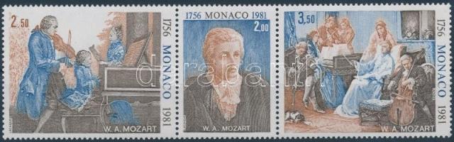 1981 Mozart hármascsík Mi 1470-1472