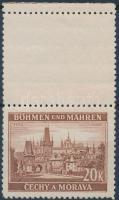 Böhmen und Mähren 1939 Tájkép 20K ívszéli függőleges felső üresmezős Mi 37 LS