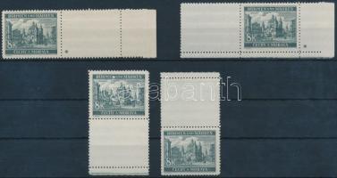 Böhmen und Mähren 1940 Tájkép 4x8K jobb- és bal oldali üresmezős érték 1-1 csillaggal + alsó és felső ívszéli üresmezős érték Mi 59