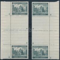 Böhmen und Mähren 1940 Tájkép 8K 2 db függőleges ívszéli (jobb- és bal oldali) 2-2 üresmezős pár 4-4 db csillaggal Mi 59