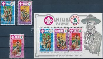 1983 Cserkész sor Mi 490-492 + blokk Mi 64