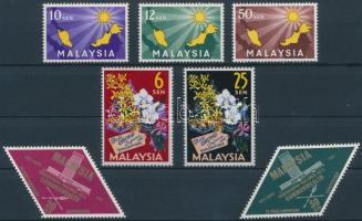 1963 Teljes év kiadásai Mi 1-3, 4-5, 6-7