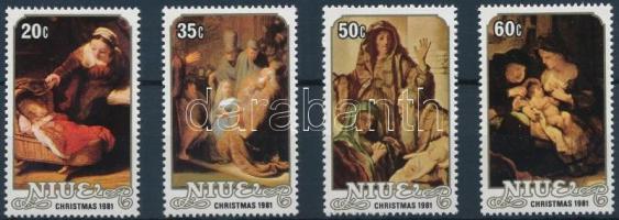 1981 Karácsony: Festmények sor Mi 448-451 + blokksor Mi 51-55