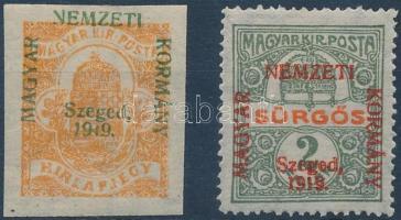Szeged 1919 Hírlap és Sürgős bélyeg, Bodor vizsgálójellel