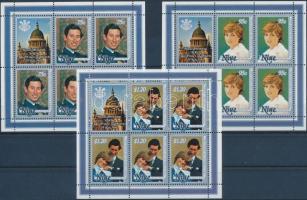 1981 Diana és Károly herceg esküvője kisívsor Mi 421-423