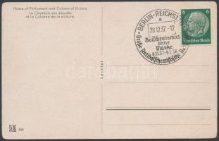 1937 Címzetlen képeslap az Antibolsevista kiállítás alkalmi bélyegzésével