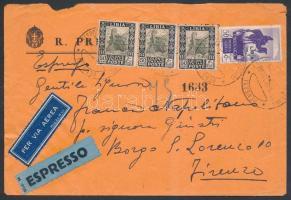 Express airmail to Florence, Expressz légi levél Firenzébe